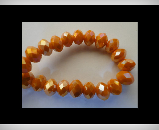 Faceted Glass Beads-8mm-Fire-Opal-AB