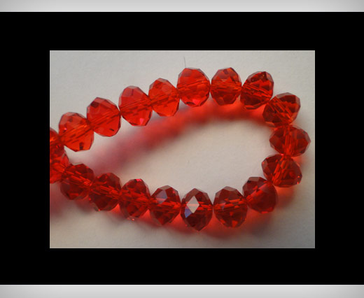 Faceted Glass Beads-8mm-Granate