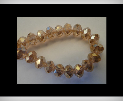 Faceted Glass Beads-8mm-Rose-AB