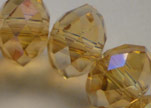 Faceted Glass Beads-8mm-Topaz-AB