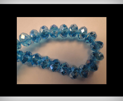 Faceted Glass Beads-8mm-Turquoise-AB