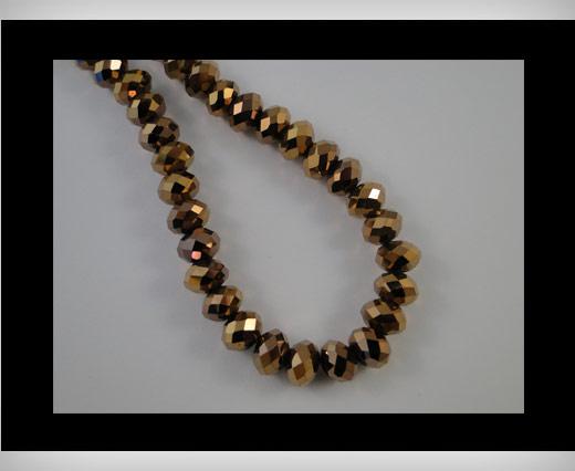 Faceted Glass Beads-4mm-Metallic Bronze
