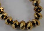 Faceted Glass Beads-6mm-Golden Shadow