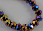 Faceted Glass Beads-6mm-Median Blue