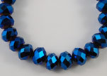 Faceted Glass Beads-6mm-Metallic blue