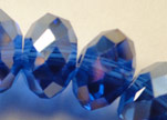 Faceted Glass Beads-6mm-Saphire