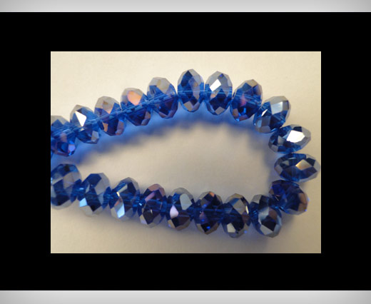 Buy Faceted Glass Beads-6mm-Saphire at wholesale prices