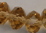 Faceted Glass Beads-6mm-Topaz