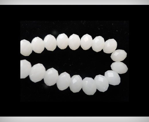 Buy Faceted Glass Beads-6mm-White-Jade at wholesale prices