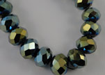 Faceted Glass Beads-8mm-Cosmo Jet