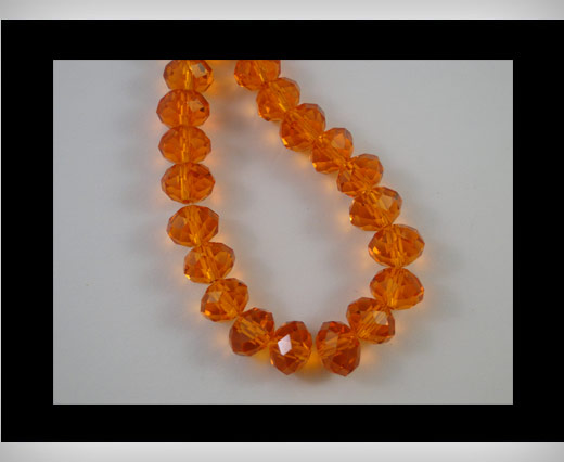 Faceted Glass Beads-8mm-Sun