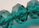 Faceted Glass Beads-12mm-Emerald