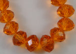 Faceted Glass Beads-12mm-Sun