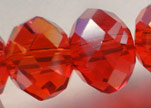 Faceted Glass Beads-3mm-Granate-AB