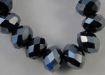 Faceted Glass Beads-3mm-Hematitie
