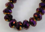 Faceted Glass Beads-3mm-Metallic Ameythst