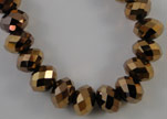 Faceted Glass Beads-3mm-Metallic Bronze