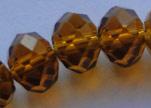 Faceted Glass Beads-3mm-Mokka