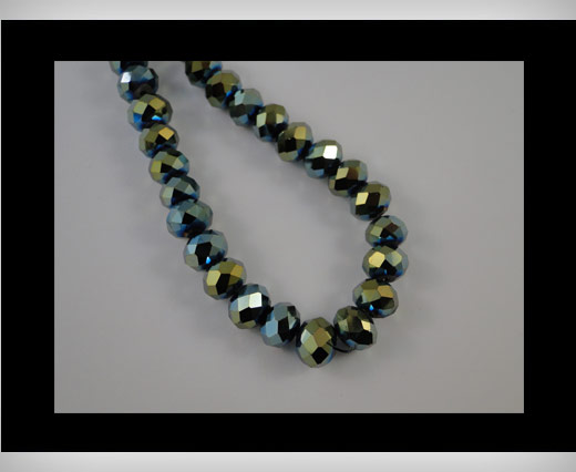 Faceted Glass Beads-18mm-Cosmo Jet