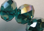 Faceted Glass Beads-18mm-Emerald-AB