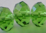 Faceted Glass Beads-18mm-Fern-Green