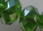 Faceted Glass Beads-18mm-Fern-Green-AB