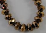 Faceted Glass Beads-18mm-Metallic Bronze