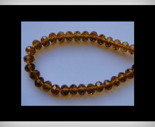 Faceted Glass Beads-18mm-Mokka