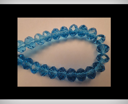 Faceted Glass Beads-18mm-Turquoise
