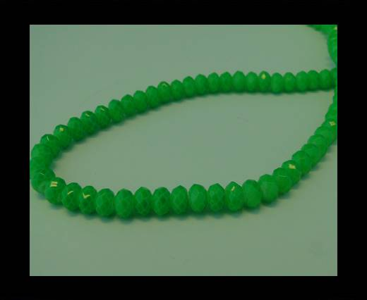 Faceted Glass Beads-6mm-Neon Green