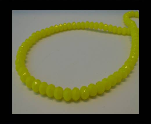 Buy Faceted Glass Beads-6mm-Neon Yellow at wholesale prices