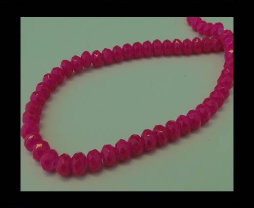 Buy Faceted Glass Beads-6mm-Neon Pink at wholesale prices