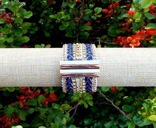 Buy FashionBracelet09 - Gold and Blue at wholesale prices