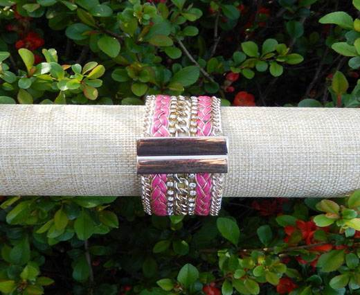 Leather Bracelets Supplies Bracelet11 - Pink And Gold