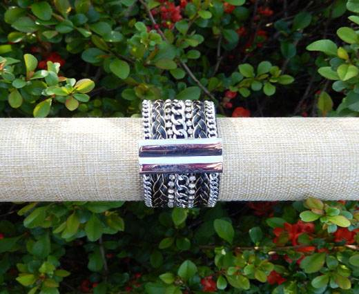 Buy FashionBracelet12 - Silver and Black at wholesale prices