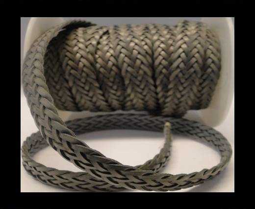 Flat Braided Cords-Style-2-12mm- Army Green