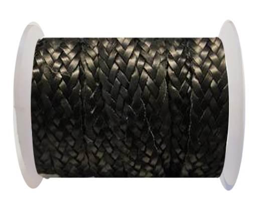 Flat Braided Cords-Style-2-12mm- Black