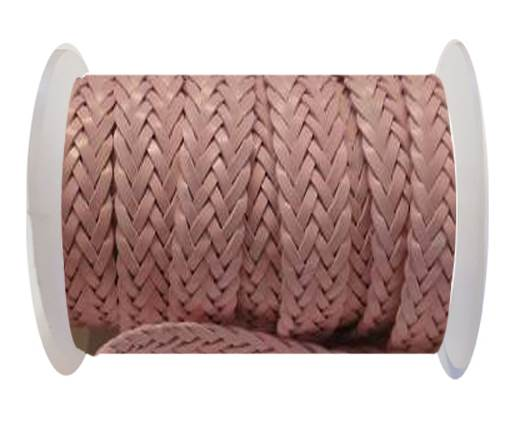 Flat Braided Cords-Style-2-12mm- Light Pink