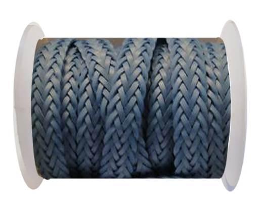 Flat Braided Cords-Style-2-12mm- Turkey Blue
