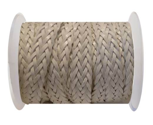 Flat Braided Cords-Style-2-12mm- White