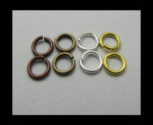 Brass jump ring FI-7028-0.8*3mm-SILVER