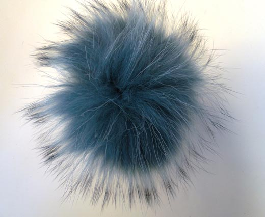 Finn Raccoon Pom Pom-Blue-14cms