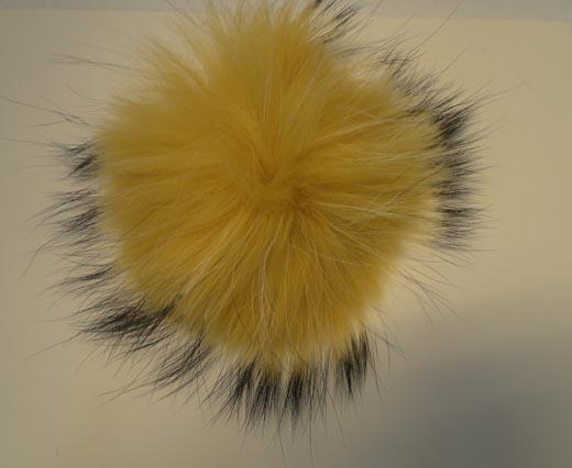 Finn Raccoon Pom Pom-Yellow-14cms
