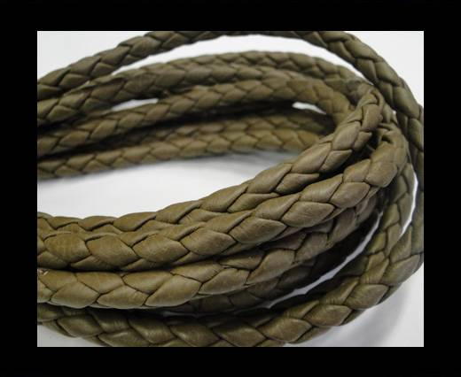 Fine Braided Nappa Leather Cords-6mm-TAUPE
