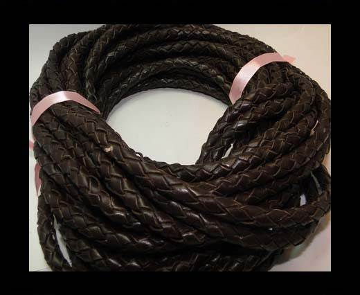 Fine Braided Nappa Leather Cords-8mm-DI B 03 dark brown