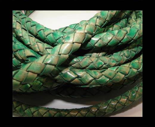 Fine Braided Nappa Leather Cords-8mm-DI PB 01 light green closer