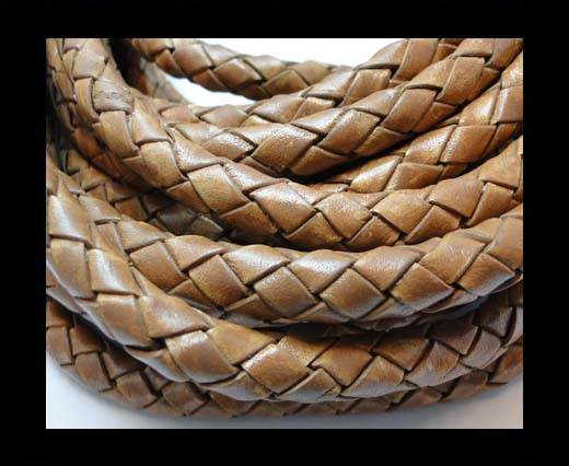 Fine Braided Nappa Leather Cords-8mm-DI PB 04 light brown closer
