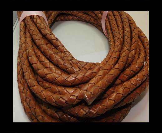 Fine Braided Nappa Leather Cords-8mm-DI PB 04 light brown