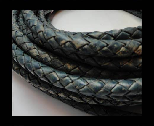 Fine Braided Nappa Leather Cords-8mm-DI PB 15 closer