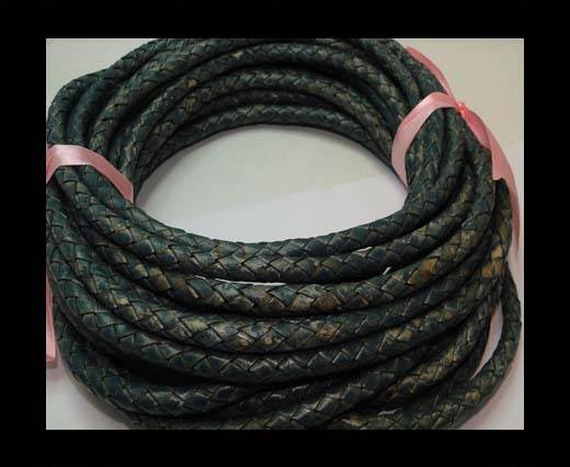 Fine Braided Nappa Leather Cords-8mm-DI PB 15 vintage blue